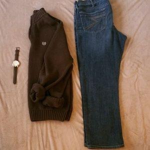 Chaps Sweaters - Men's Quarter Zip Pullover